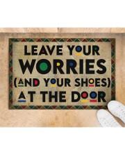 """Leave your worries Doormat 22.5"""" x 15""""  aos-doormat-22-5x15-lifestyle-front-05"""