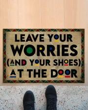 """Leave your worries Doormat 22.5"""" x 15""""  aos-doormat-22-5x15-lifestyle-front-10"""