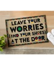 """Leave your worries Doormat 22.5"""" x 15""""  aos-doormat-22-5x15-lifestyle-front-11"""