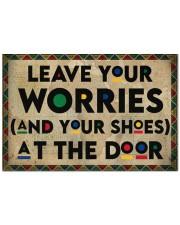 """Leave your worries Doormat 22.5"""" x 15""""  front"""