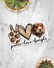 Peace love beagle Sticker - Single (Horizontal) aos-sticker-single-horizontal-lifestyle-front-06