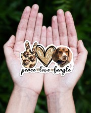 Peace love beagle Sticker - Single (Horizontal) aos-sticker-single-horizontal-lifestyle-front-20