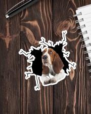 Basset Hounds Crack Sticker - Single (Vertical) aos-sticker-single-vertical-lifestyle-front-05
