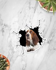 Basset Hounds Crack Sticker - Single (Vertical) aos-sticker-single-vertical-lifestyle-front-06