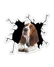 Basset Hounds Crack Sticker - Single (Vertical) front