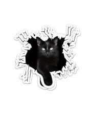 Black Cat Crack Sticker - 4 pack (Vertical) front