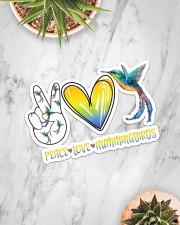 Peace Love Hummingbird  Sticker - Single (Horizontal) aos-sticker-single-horizontal-lifestyle-front-06