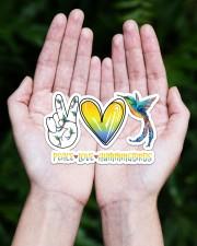 Peace Love Hummingbird  Sticker - Single (Horizontal) aos-sticker-single-horizontal-lifestyle-front-20