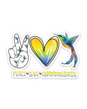 Peace Love Hummingbird  Sticker - Single (Horizontal) front