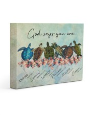 Sea Turtles God Says You Are 14x11 Gallery Wrapped Canvas Prints front