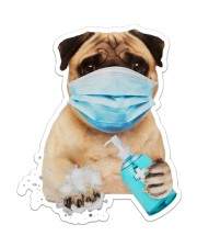 Pug wash hands Sticker - Single (Vertical) front