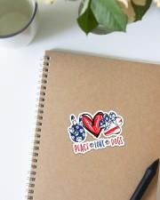 Peace love dog USA Sticker - Single (Vertical) aos-sticker-single-vertical-lifestyle-front-16
