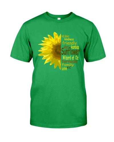Sunflower symbol of kansas city t-shirt