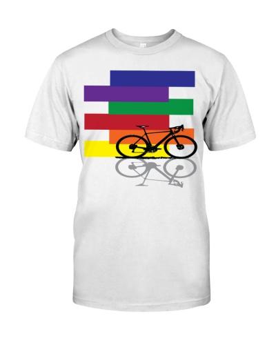 The cyclist LGBTQ rainbow