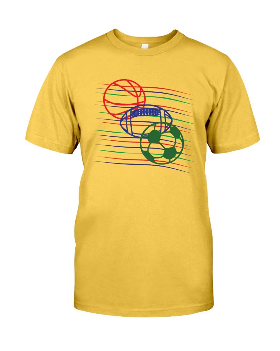 Sports basketball football soccer t-shirt Classic T-Shirt