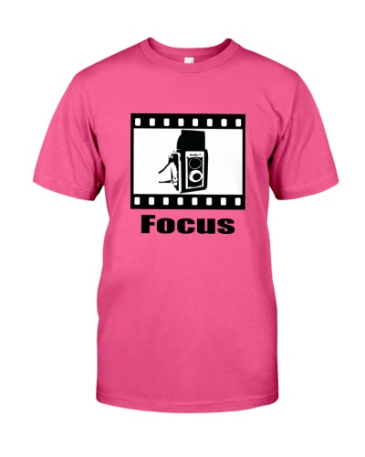 Focus camera film vintage t-shirt