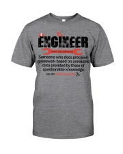 ENGINEER - NOUN Classic T-Shirt front
