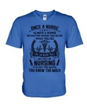 ALWAYS A NURSE 3 V-Neck T-Shirt thumbnail