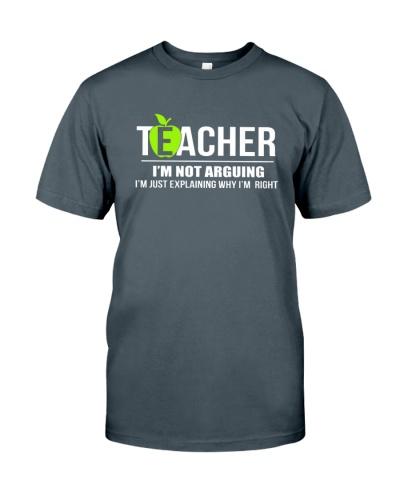 TEACHER - I'M NOT ARGUING