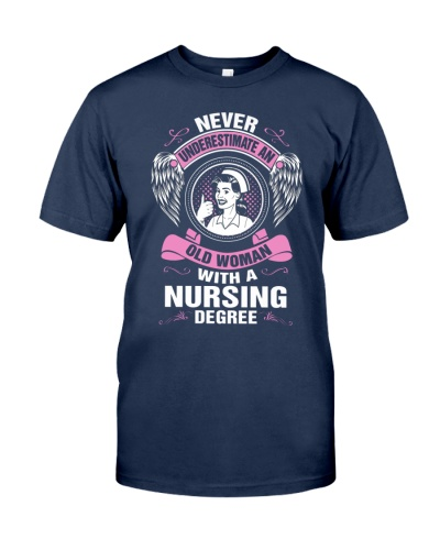 AN OLD WOMAN WITH A NURSING DEGREE