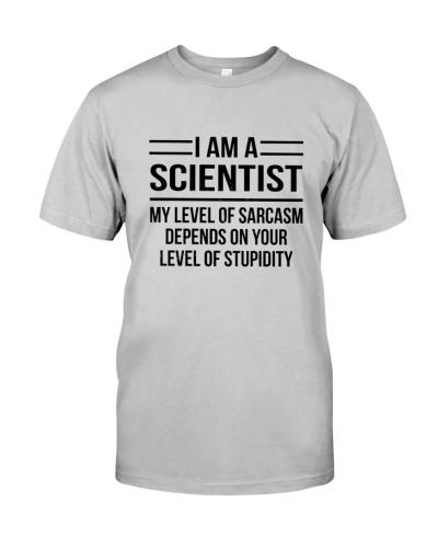 SCIENTIST - LEVEL OF SARCASM