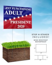 Any functioning adult president 2020 yard sign 24x18 Yard Sign aos-yard-sign-24x18-lifestyle-front-30