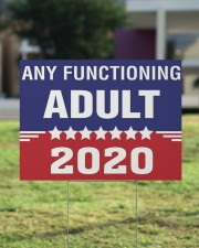 Any Functioning Adult yard sign 24x18 Yard Sign aos-yard-sign-24x18-lifestyle-front-22