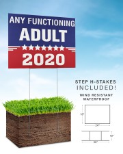 Any Functioning Adult yard sign 24x18 Yard Sign aos-yard-sign-24x18-lifestyle-front-30