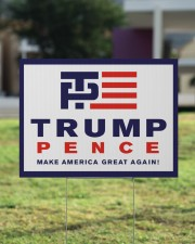 Trump pence make america great again yard sign 24x18 Yard Sign aos-yard-sign-24x18-lifestyle-front-22