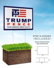 Trump pence make america great again yard sign 24x18 Yard Sign aos-yard-sign-24x18-lifestyle-front-30