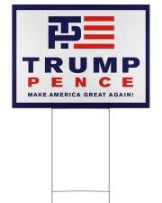 Trump pence make america great again yard sign 24x18 Yard Sign front