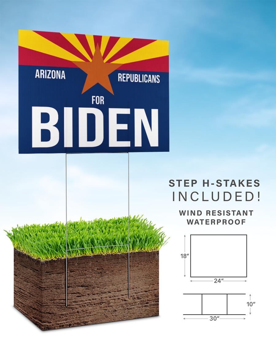 Arizona republicans for biden yard sign 24x18 Yard Sign