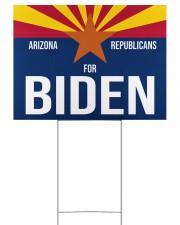 Arizona republicans for biden yard sign 24x18 Yard Sign back