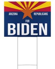 Arizona republicans for biden yard sign 24x18 Yard Sign front