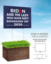Biden and the lady who made brett kavanaugh cry 24x18 Yard Sign aos-yard-sign-24x18-lifestyle-front-30