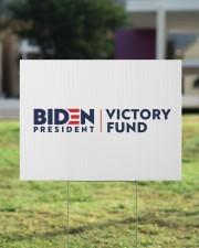 Biden victory fund basic yard sign 24x18 Yard Sign aos-yard-sign-24x18-lifestyle-front-22