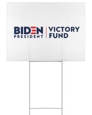 Biden victory fund basic yard sign 24x18 Yard Sign back