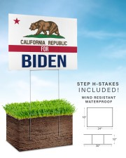 California republicans for Biden sign 24x18 Yard Sign aos-yard-sign-24x18-lifestyle-front-30