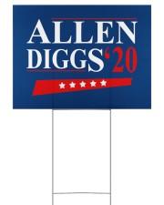 Allen Diggs 20 yard sign 24x18 Yard Sign back