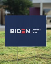 Biden victory fund yard sign 24x18 Yard Sign aos-yard-sign-24x18-lifestyle-front-22