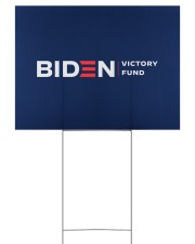 Biden victory fund yard sign 24x18 Yard Sign back