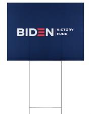 Biden victory fund yard sign 24x18 Yard Sign front
