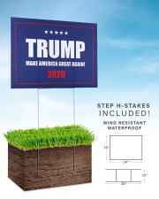 Trump make america great again 2020 yard sign 24x18 Yard Sign aos-yard-sign-24x18-lifestyle-front-30