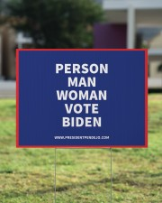 Person Man Woman Vote Biden Yard Sign 24x18 Yard Sign aos-yard-sign-24x18-lifestyle-front-22