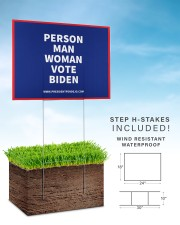 Person Man Woman Vote Biden Yard Sign 24x18 Yard Sign aos-yard-sign-24x18-lifestyle-front-30