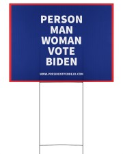 Person Man Woman Vote Biden Yard Sign 24x18 Yard Sign back