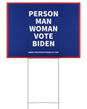 Person Man Woman Vote Biden Yard Sign 24x18 Yard Sign front