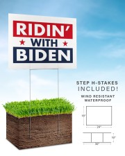 ridin with biden yard sign 24x18 Yard Sign aos-yard-sign-24x18-lifestyle-front-30