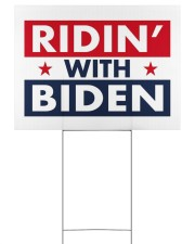 ridin with biden yard sign 24x18 Yard Sign back