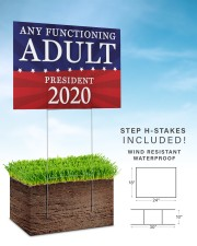 Any Functioning Adult 2020 yard sign 24x18 Yard Sign aos-yard-sign-24x18-lifestyle-front-30